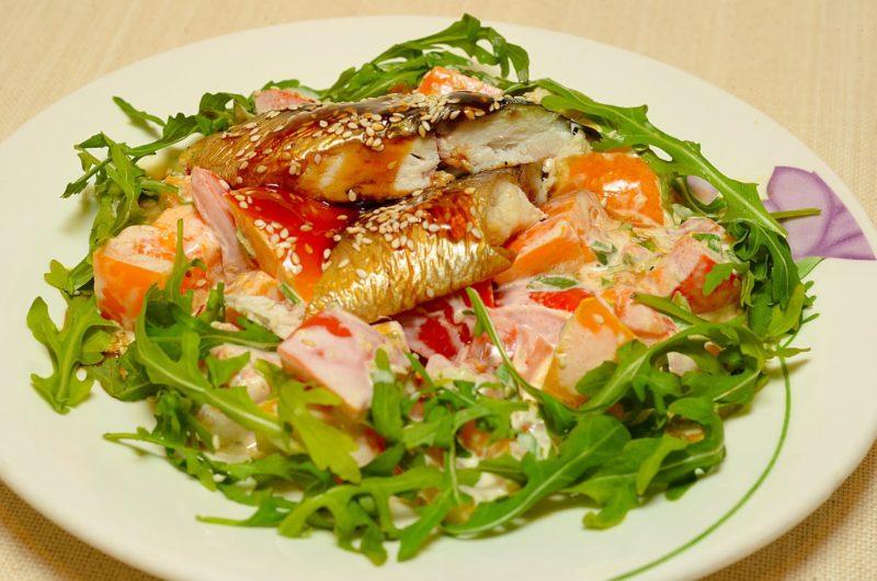 рыба копченая салаты фото рецепты растереть